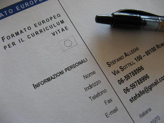Esempi Di Curriculum Vitae Formato Europeo Gia Compilati Firmakoek